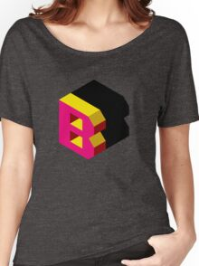 Letter B Isometric Graphic Women's Relaxed Fit T-Shirt