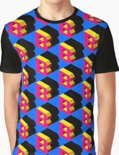 Letter B Isometric Graphic Graphic T-Shirt