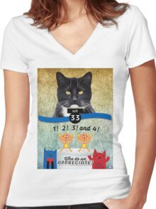 A Special Factor Cat-egorically Appreciated - Mister Women's Fitted V-Neck T-Shirt