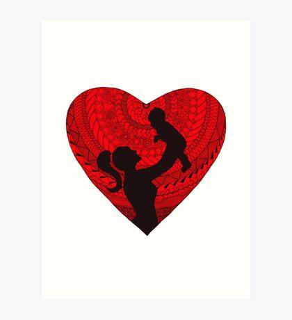 Motherhood - Heart Art Print