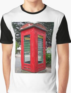 Old Red Phone Box Graphic T-Shirt