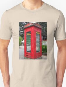 Old Red Phone Box Unisex T-Shirt