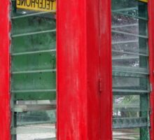 Old Red Phone Box Sticker