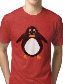 Geometric Penguin Tri-blend T-Shirt