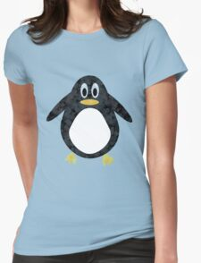 Geometric Penguin Womens Fitted T-Shirt