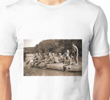 German Soldiers in a Raft during WW2 Unisex T-Shirt