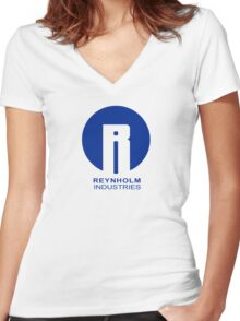 Reynholm Industries Women's Fitted V-Neck T-Shirt