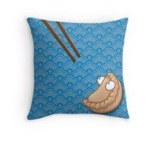 Startled Pot Sticker Throw Pillow