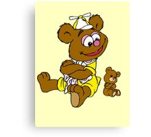 Muppet Babies - Fozzie Bear & Teddy - Arms Crossed Canvas Print