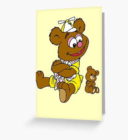 Muppet Babies - Fozzie Bear & Teddy - Arms Crossed Greeting Card