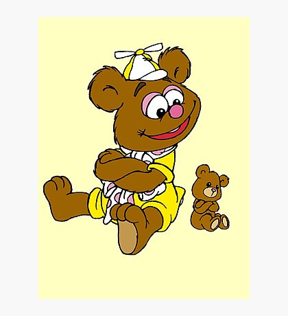 Muppet Babies - Fozzie Bear & Teddy - Arms Crossed Photographic Print