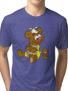 Muppet Babies - Fozzie Bear & Teddy - Arms Crossed Tri-blend T-Shirt
