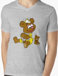 Muppet Babies - Fozzie Bear & Teddy - Arms Crossed Mens V-Neck T-Shirt