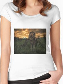 Lion Pride Women's Fitted Scoop T-Shirt