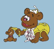 Muppet Babies - Fozzie Bear & Teddy - Banana Telephone One Piece - Short Sleeve