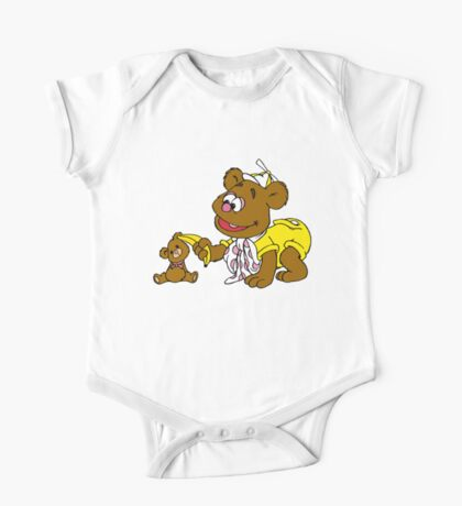 Muppet Babies - Fozzie Bear & Teddy - Banana Telephone One Piece - Short Sleeve