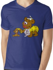Muppet Babies - Fozzie Bear & Teddy - Banana Telephone Mens V-Neck T-Shirt