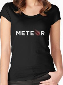 Meteor Black Women's Fitted Scoop T-Shirt