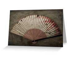 Japanese Folding Blossom Fan Greeting Card