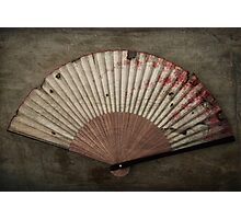 Japanese Folding Blossom Fan Photographic Print