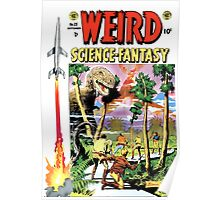 Vintage Classic Weird Science Fantasy no. 25 RETRO Poster