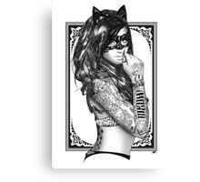 Tattoo Sirens - Catwoman Canvas Print