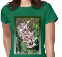 Easter Card with Pretty-in-Pink Hyacinth Womens Fitted T-Shirt