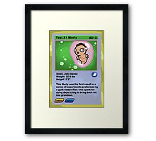 Pocket Mortys- Test X1 Framed Print