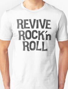 Vintage Retro Revive Rock n' Roll Design Unisex T-Shirt