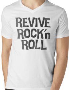 Vintage Retro Revive Rock n' Roll Design Mens V-Neck T-Shirt