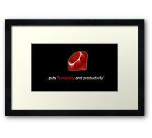 Ruby Simplicity Framed Print