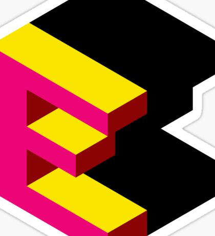 Letter E Isometric Graphic Sticker