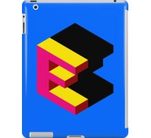 Letter E Isometric Graphic iPad Case/Skin