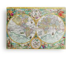 Vintage Map of the World Metal Print