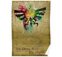 Hylian Paint Splatter Poster