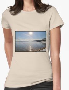 Snowfall Lakeside Womens Fitted T-Shirt