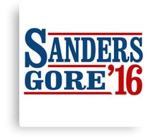 Sanders Gore 2016 Canvas Print