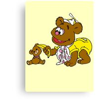 Muppet Babies - Fozzie Bear & Teddy - Banana Telephone Canvas Print