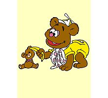 Muppet Babies - Fozzie Bear & Teddy - Banana Telephone Photographic Print