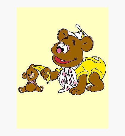 Muppet Babies - Fozzie Bear & Teddy - Banana Telephone Photographic Print