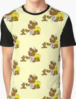 Muppet Babies - Fozzie Bear & Teddy - Banana Telephone Graphic T-Shirt
