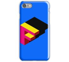 Letter F Isometric Graphic iPhone Case/Skin