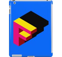 Letter F Isometric Graphic iPad Case/Skin