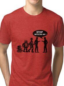 Funny robot evolution Tri-blend T-Shirt