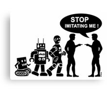 Funny robot evolution Canvas Print