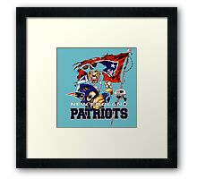 Patriot new england Framed Print