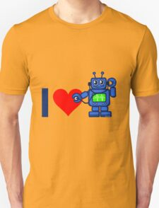 I heart robot, robot listen to heart T-Shirt