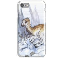 snowy leaellynasaura dinosaur iPhone Case/Skin