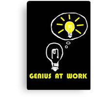 Genius at work Canvas Print