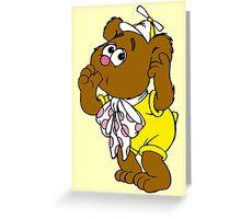 Muppet Babies - Fozzie Bear - Sucking Thumb Greeting Card
